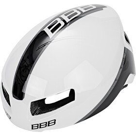 BBB Tithon BHE-08 Kask rowerowy, glossy white